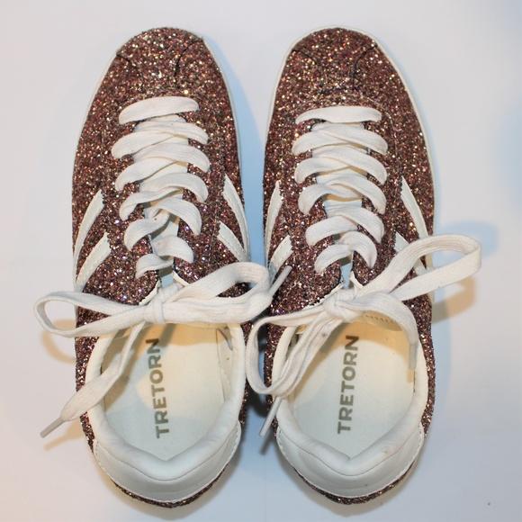 Rose Gold Glitter Sneakers | Poshmark